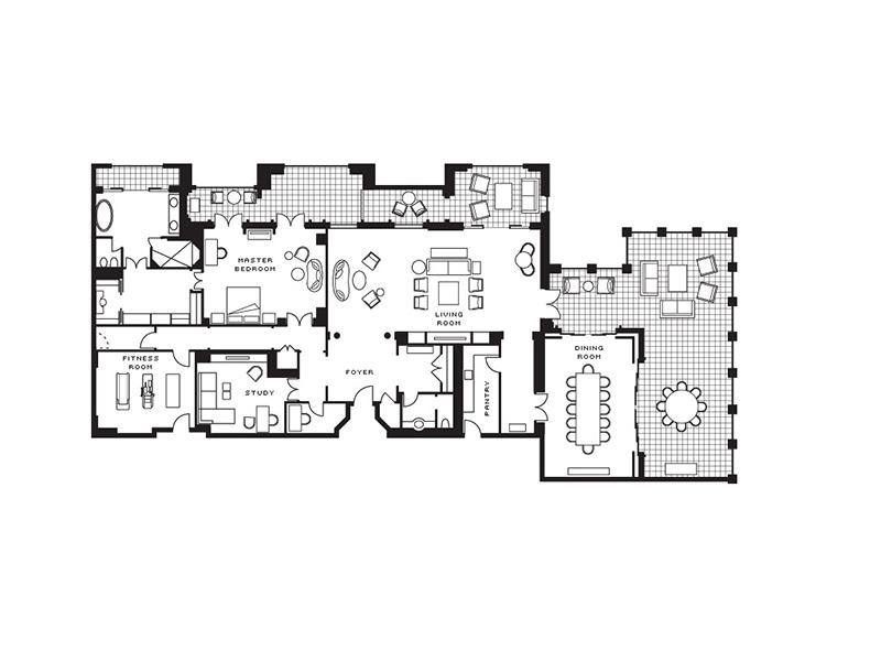 Presidential Suite-plan
