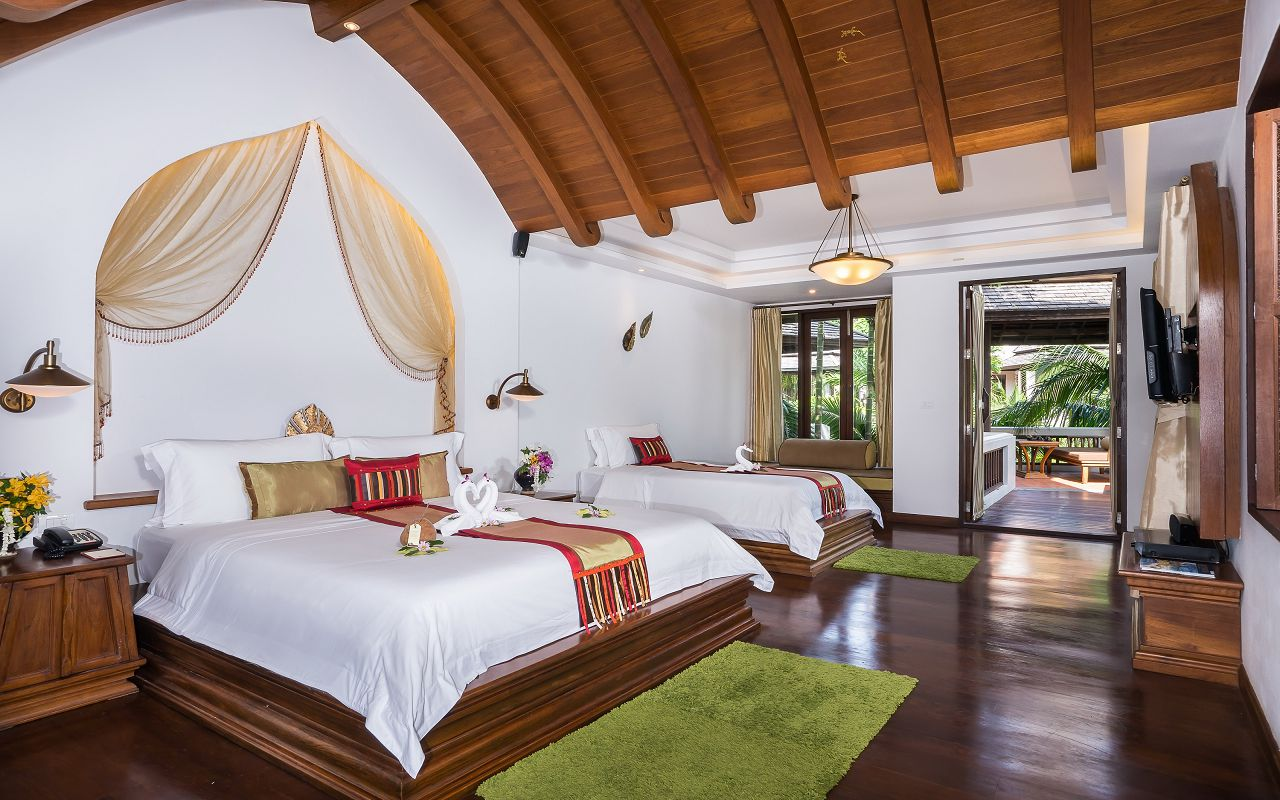 Royal Muang Samui Villas - Grand Deluxe Suite Garden View -Twin Bed 1