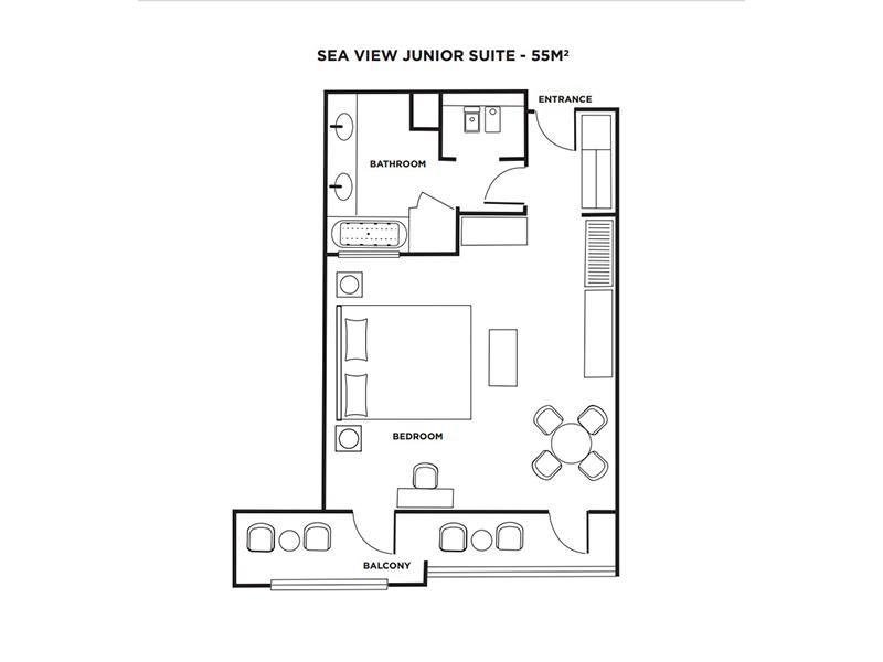 Sea View Junior Suite-plan