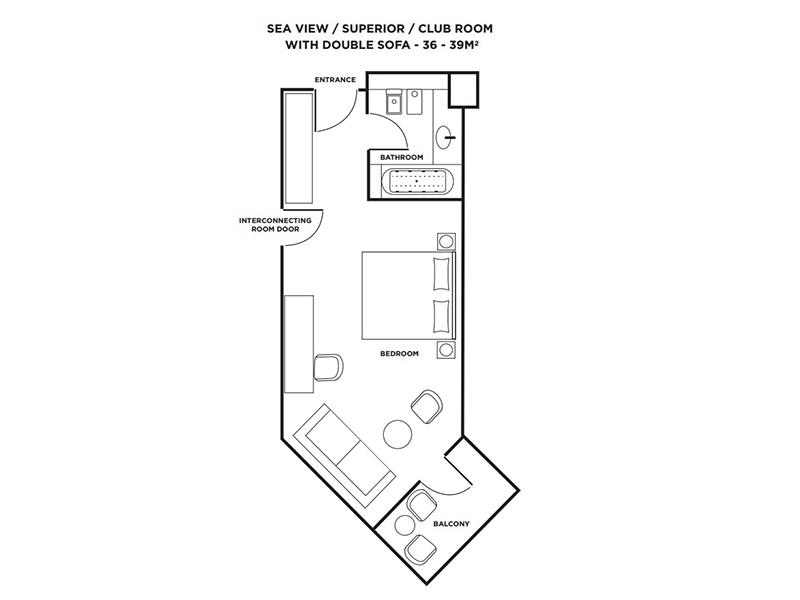Superior Sea View Room-plan