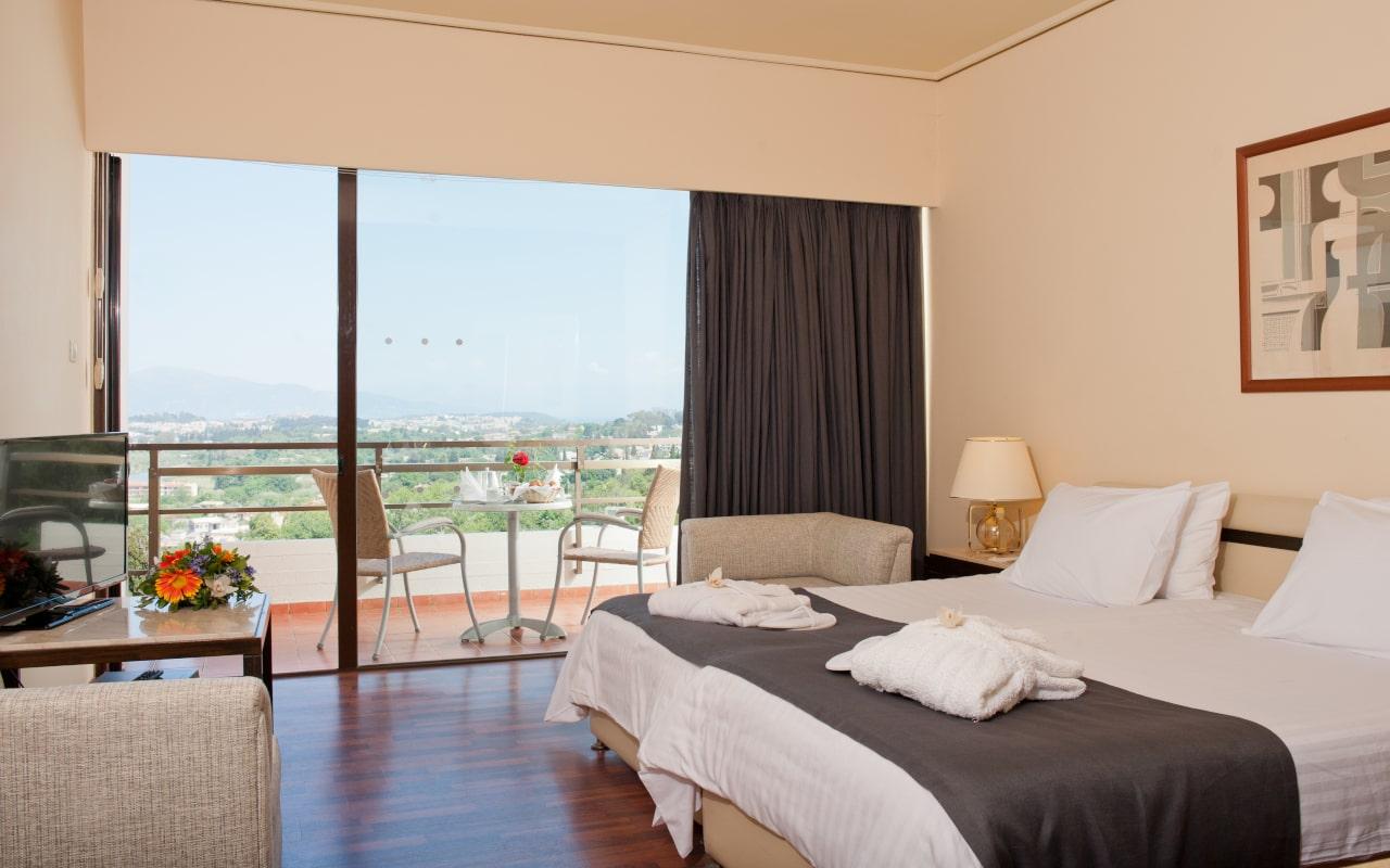 Superior Twin Lake View Room - Corfu Holiday Palace 2-min