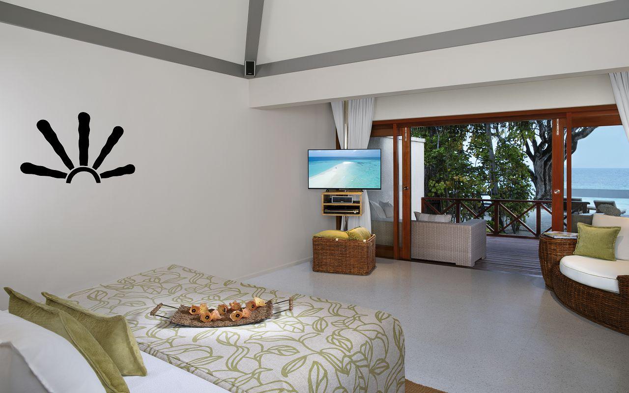 Taj Coral Reef Resort and Spa_Deluxe Beach Villa-Bedroom