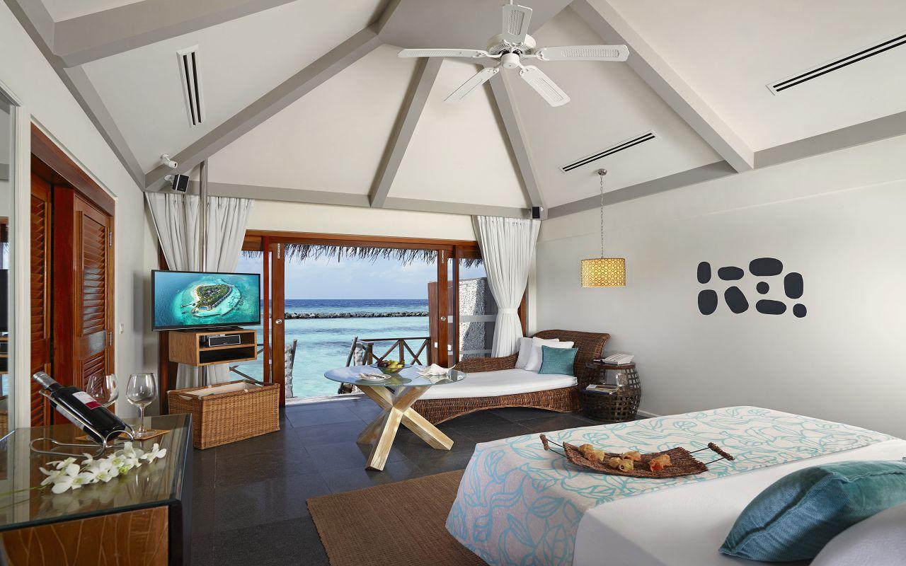 Taj Coral Reef Resort and Spa_Premium Water Villa_Bedroom