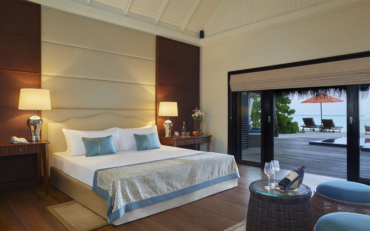 Taj Exotica Resort & Spa Maldives -Deluxe Beach Villa with Pool_Bedroom