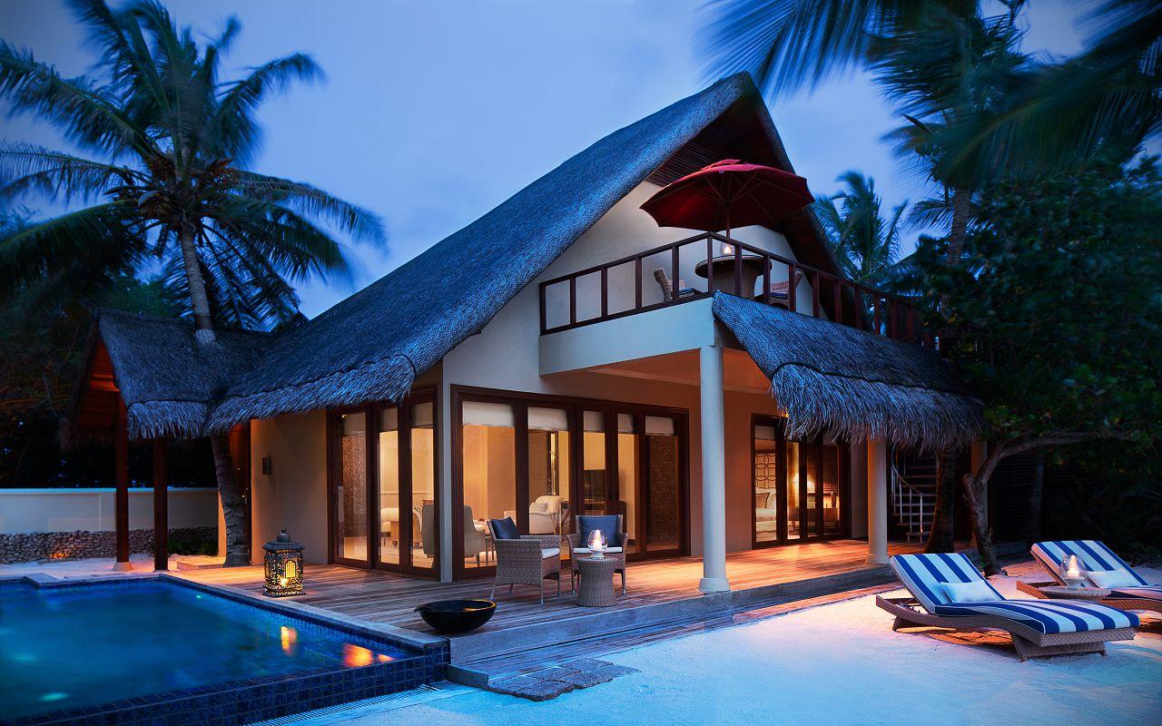 Taj Exotica Resort & Spa Maldives-One Bedroom Beach Suite with Pool_Exterior(Twilight)