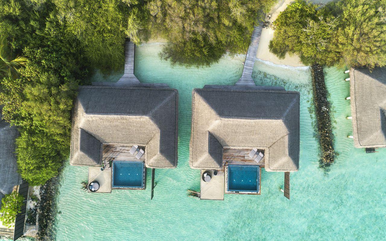 Taj Exotica Resort & Spa Maldives - One Bedroom Ocean Suite with Pool - Aerial