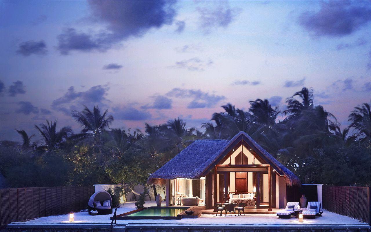 Taj Exotica Resort & Spa Maldives-PremiumVillawithPool-Exterior(Twilight)