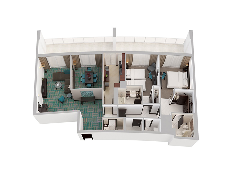 Two Bedroom Apartment Creek Side12
