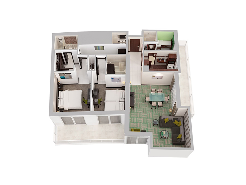 Two Bedroom Apartment With Child Room15
