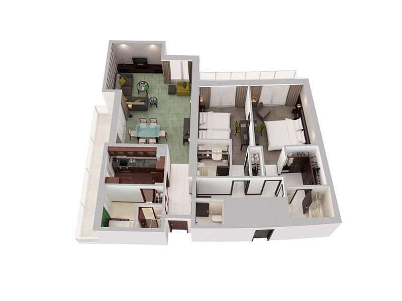 Two Bedroom Apartment With Child Room16