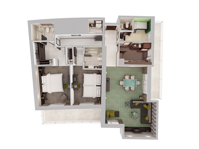 Two Bedroom Apartment With Child Room17