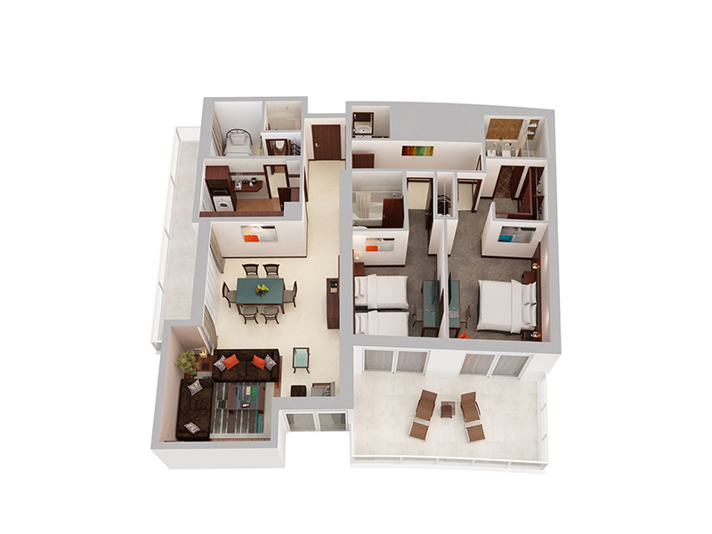 Two Bedroom Apartment With Maid's Room10
