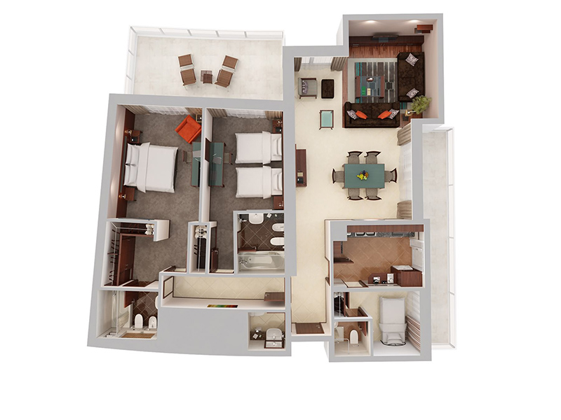 Two Bedroom Apartment With Maid's Room12