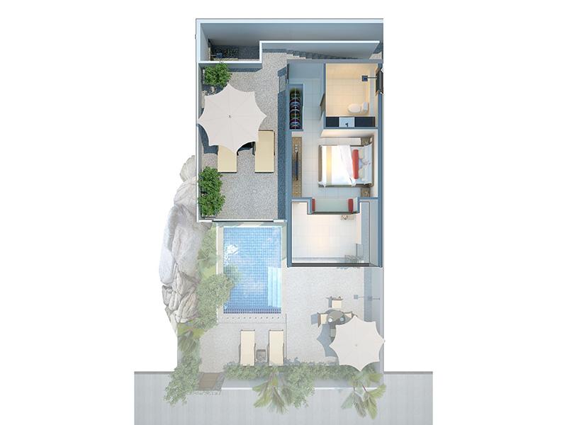 Two Bedroom Modern Pool Villa-plan2
