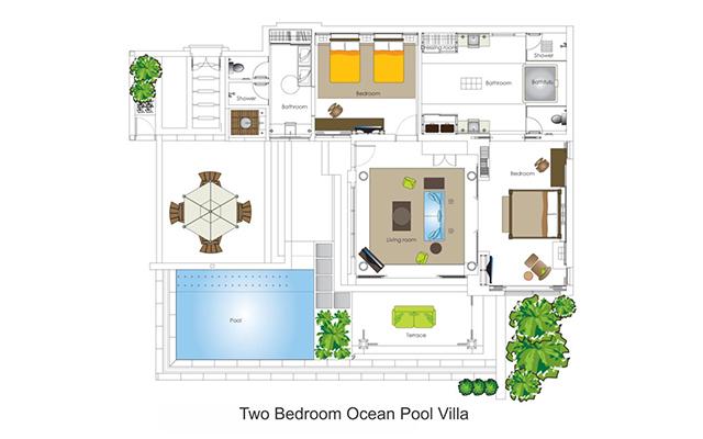 Two Bedroom Ocean Pool Villa