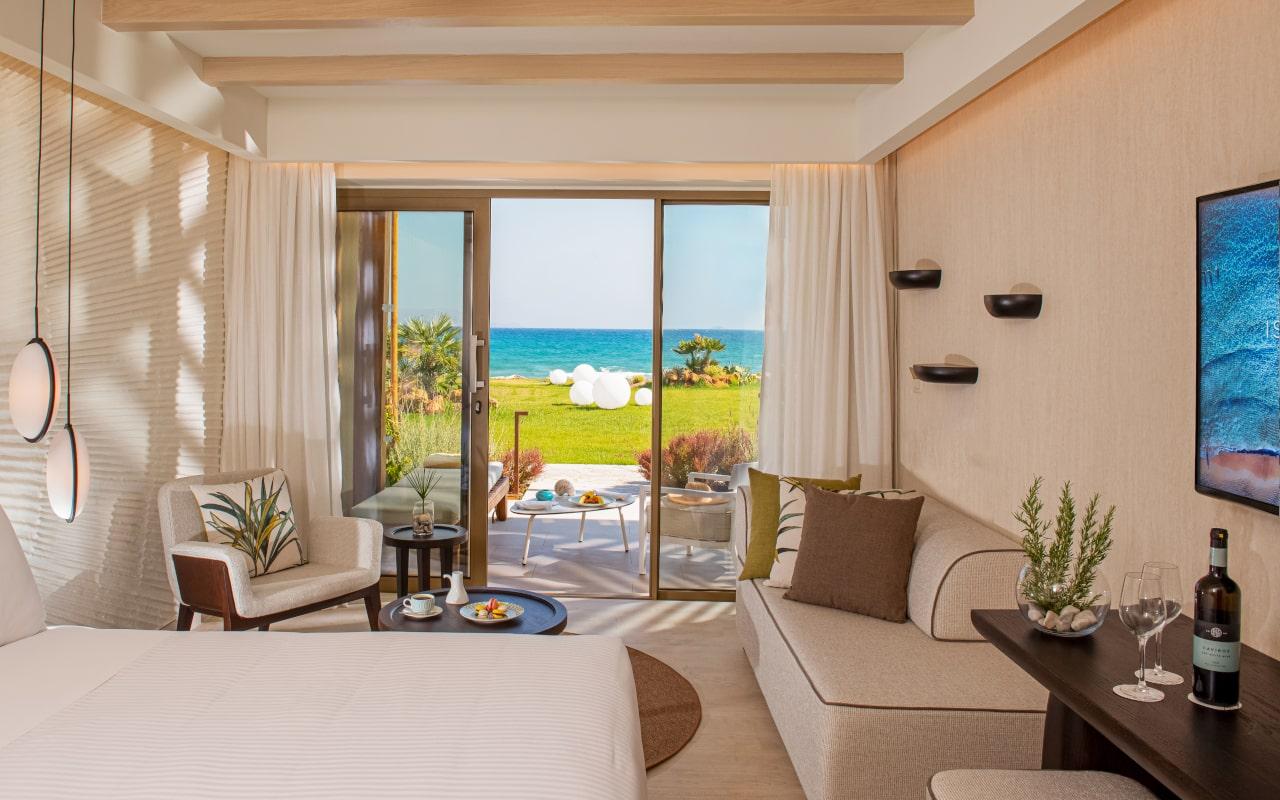 mitsis_crete_rinela_superior rooms_seaview & garden_front row1-min