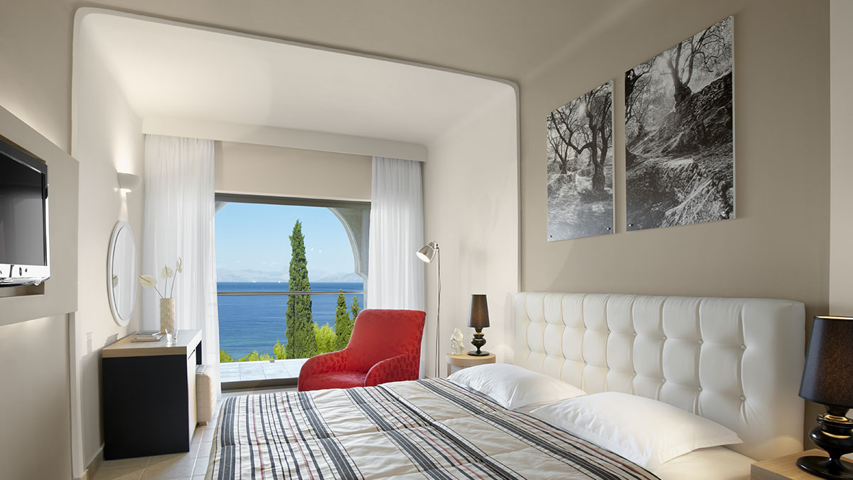Deluxe Double room - Seaview - Cluster building at Marbella Beach Hotel - Corfu