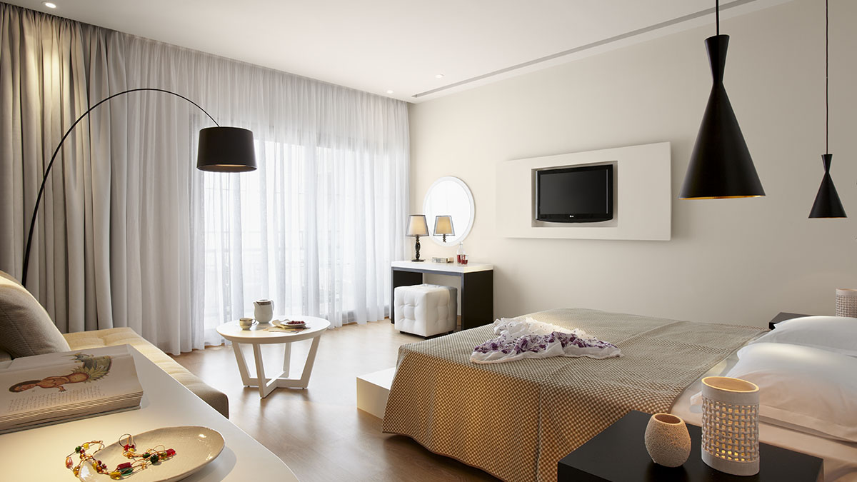 Deluxe Double room - Seaview - Mainbuilding at Marbella Beach Hotel - Corfu