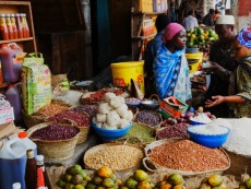 Darajani market in Stone Town in Zanzibar City