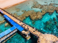 Underwater Observatory Marine Park, view from the top of underwater observatory