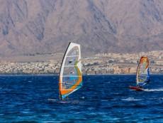 Windsurfs near Coral Beach