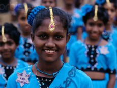 Girls Dressed for Kataragama Perahera