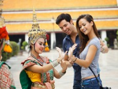 Tourist Couple in Bangkok. Thailand.