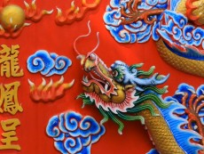 Dragon in Wat Sam Sien Temple, King Rama Royal Park,Pattaya City,Thailand,Asia