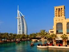 Dubai, Madinat Jumeirah and the Burj al Arab Hotel