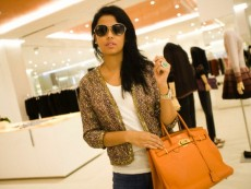 Lamia, a French Algerian lady shopping at Boutique 1 in Mall of the Emirates.