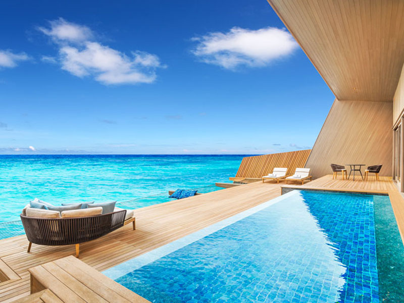 Overwater And Sunset Overwater Villas With Pool
