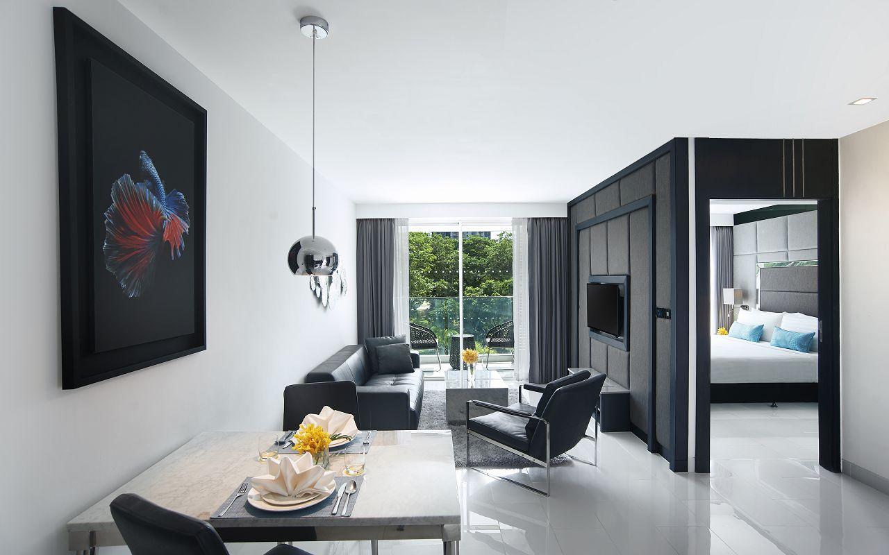 Amari Residences Pattaya_One Bedroom Deluxe Suite Living Room 1