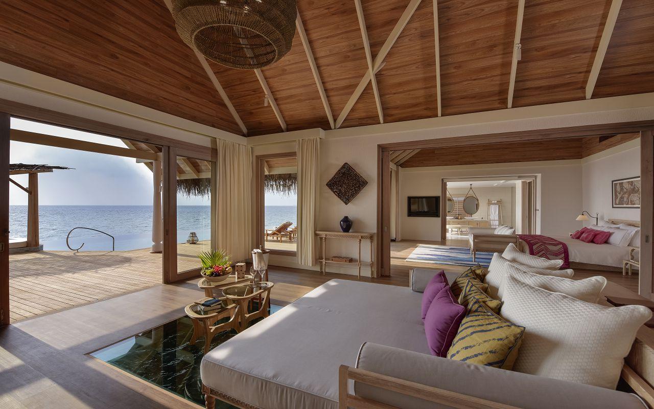 Milaidhoo Maldives accomm 4 Ocean Residence living room - Copy
