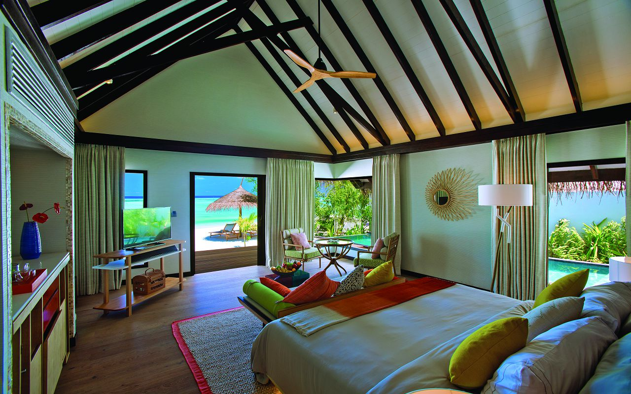 OZEN BY ATMOSPHERE - EARTH VILLA BEDROOM INTERIOR WITH VIEW