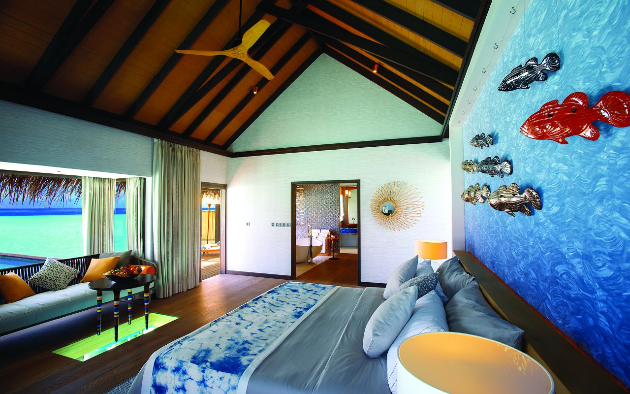 OZEN BY ATMOSPHERE - WIND VILLA WITH POOL - BEDROOM INTERIOR WITH VIEW