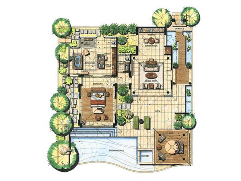 Pool Villa Garden View9