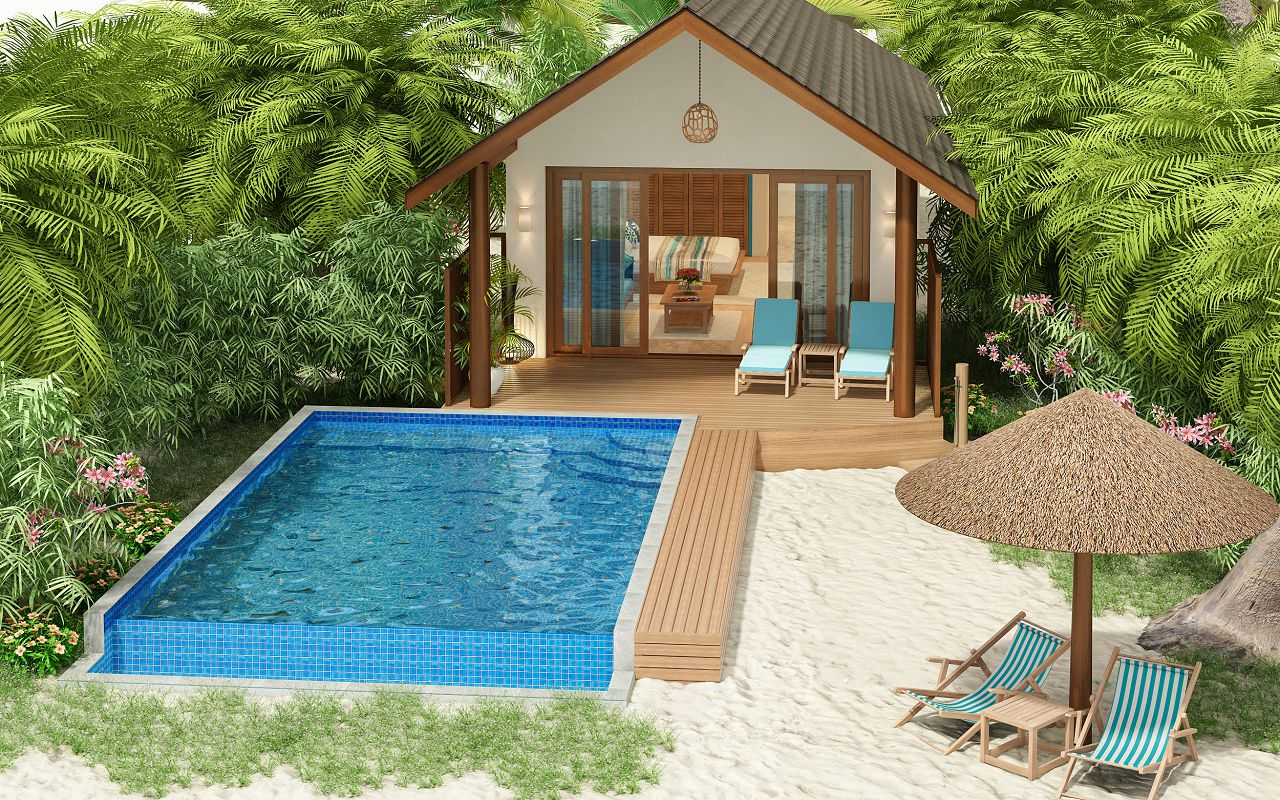 Deluxe Beach Pool Villa (3)
