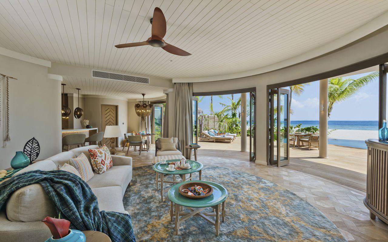 The Nautilus Maldives Beach Residence (5) interior downstairs