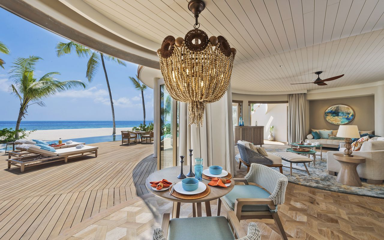 The Nautilus Maldives Beach Residence (7) interior downstairs