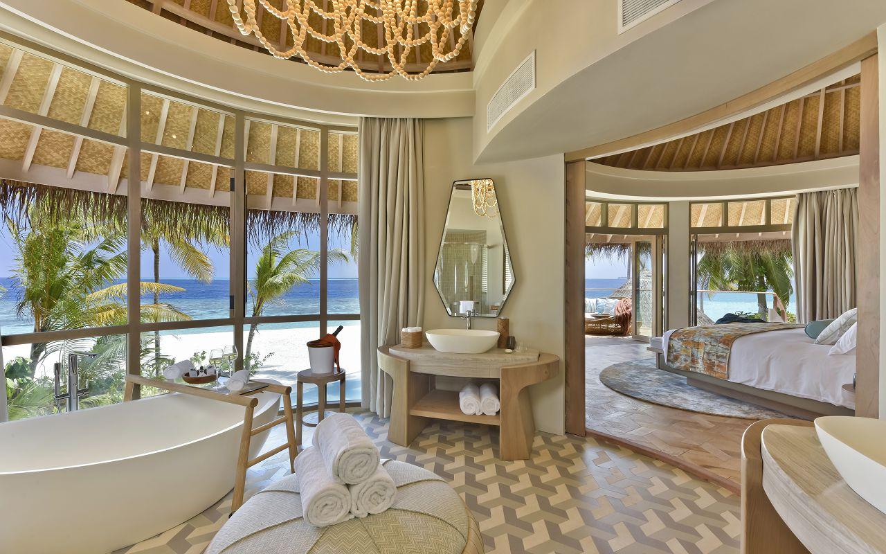 The Nautilus Maldives Beach Residence (8) upstairs bathroom