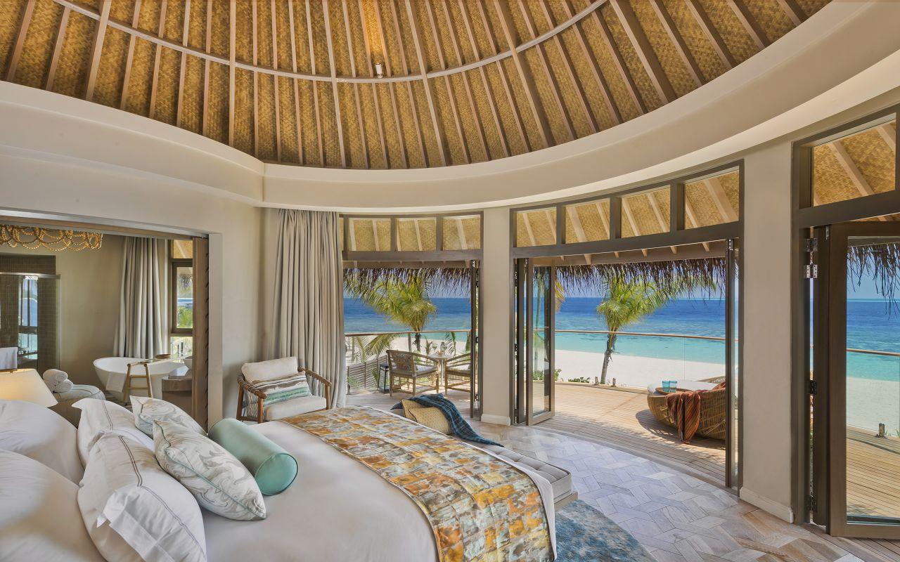 The Nautilus Maldives Beach Residence (9) upstairs bedroom