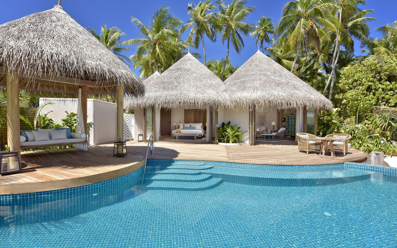 The Nautilus Maldives beach house exterior (3) pool