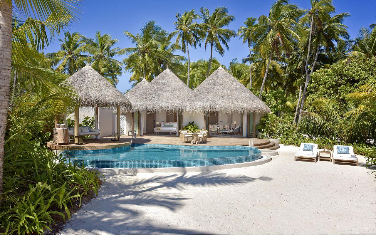 The Nautilus Maldives beach house exterior