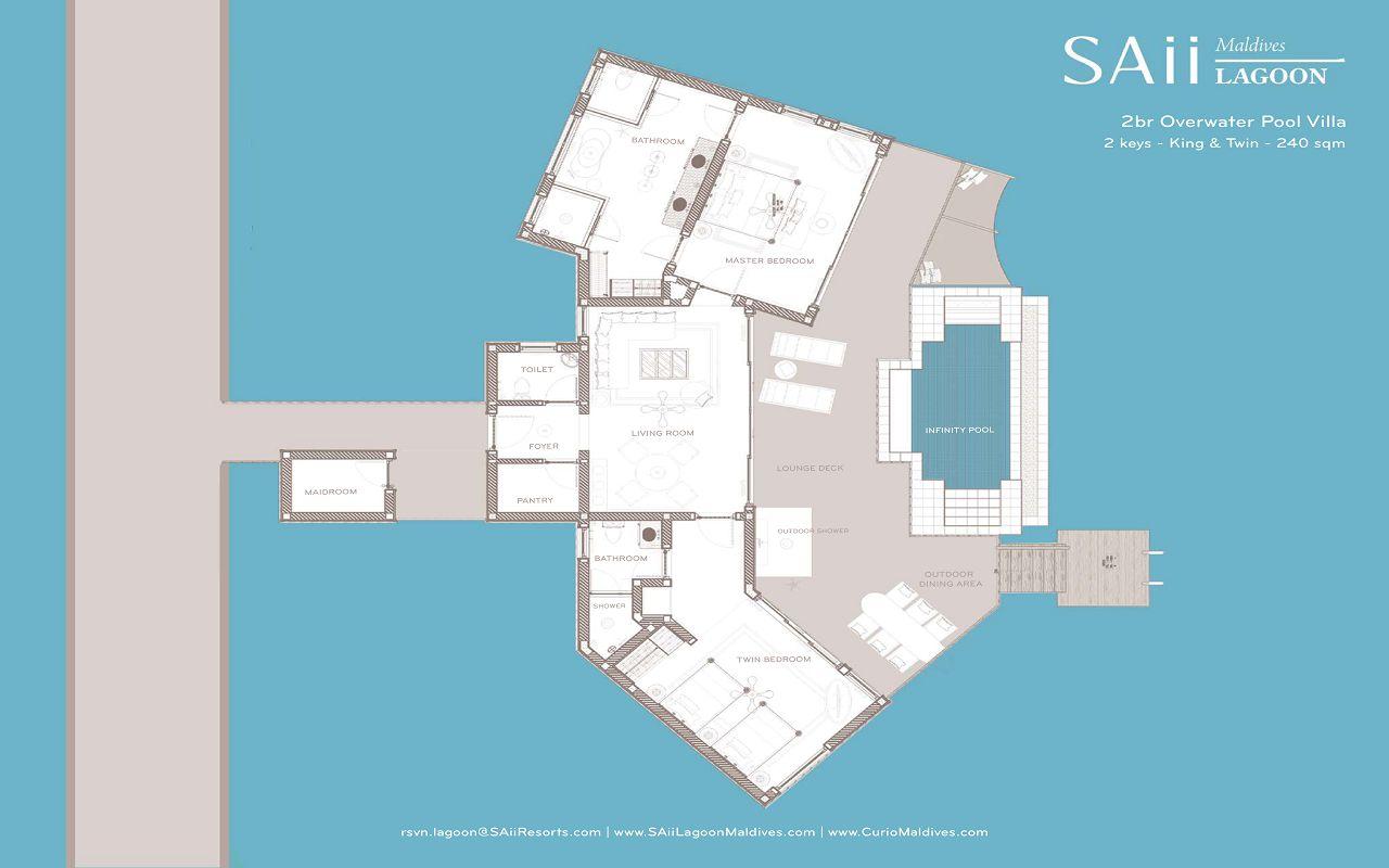 SAii Lagoon Maldives - Two Bedroom Overwater Pool Villa-1