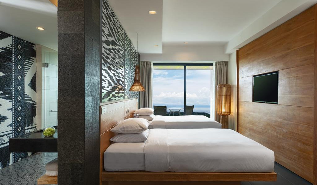 Deluxe Twin Room with Balcony and Ocean View 2-min