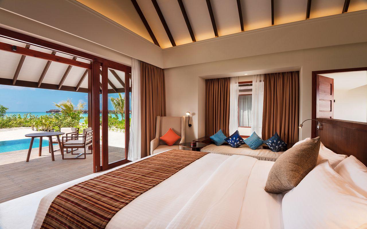 Beach Villa with Pool - Bedroom View - VARU by Atmosphere