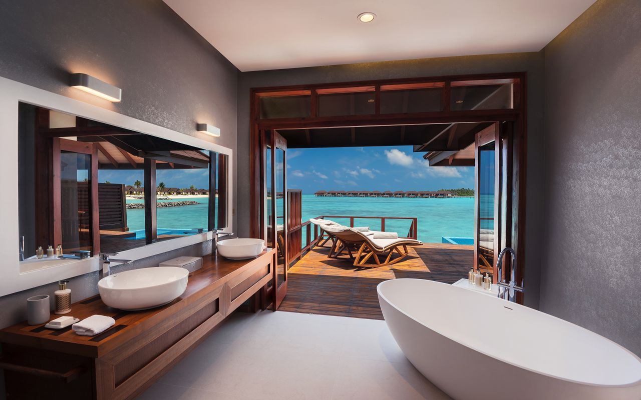 Water Villa with Pool - Bathroom View - VARU by Atmosphere