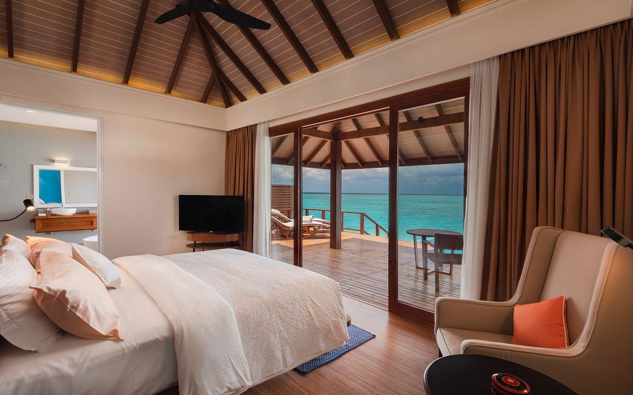Water Villa with Pool - Bedroom View - VARU by Atmosphere