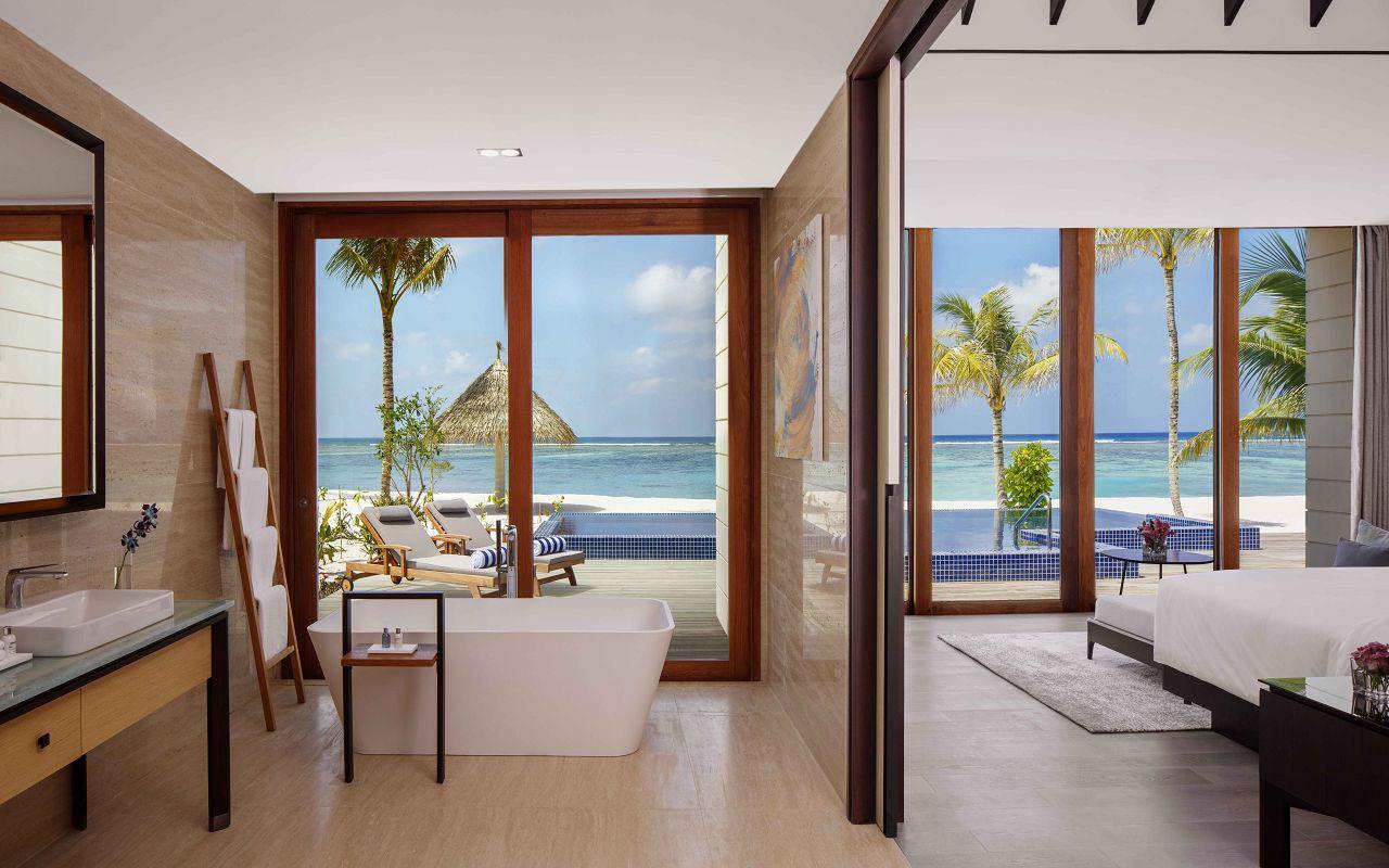 2 Bedroom Beach Suite Villa - Master Bedroom _ Bathroom