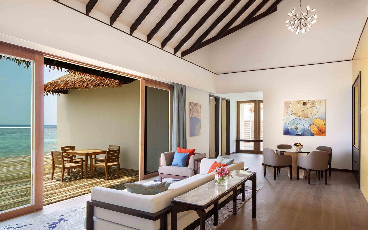 3 Bedroom Overwater Villa - Living Room